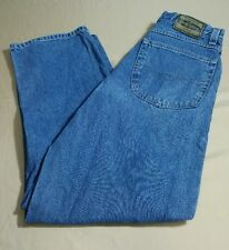 Anchor Blue 36x34 ORIGINAL Baggy Mens Blue Jeans 100% Cotton Distressed  90's