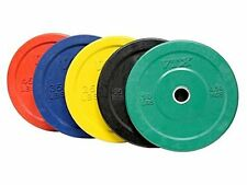 Troy VTX 260lb Colored Olympic Rubber Bumper Plates Weight Set for Crossfit