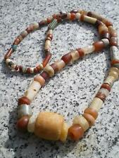 1 Nice  Big Roman Desert Quartz, Carnelian, White Agate Bead's Necklace (Lybia)