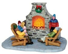 Lemax Vail Village Lighted Table Accent Outdoor Fireplace 44753 christmas house