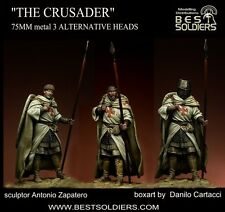 Best Soldiers Crusader Knight 3 heads 75mm Model Unpainted Metal Kit
