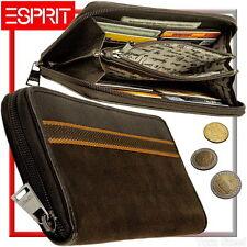 ESPRIT Damen Geldbörse Schoko (samtig, geschmeidig) Geldbeutel Portemonnaie NEU