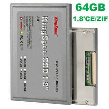 "KingSpec 1.8"" CE/ZIF 64GB SSD F DELL LATITUDE XT P27 P37J HP 2510P 2710P NC2400"