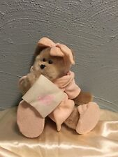 "12""-13"" Ganz H5652 Get Well Soon Bear with Pink Terrycloth Robe & Metal Joints"