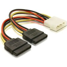 Molex to 2 x SATA Power Dual Power Adapter Y Splitter convert Pc Power to  S-ata