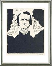 Horst Janssen (1929-1995), SIGNIERT: Edgar Allen Poe, 13.2.1966
