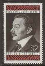 AUSTRIA MNH 1968 SG1530 50TH DEATH ANV OF KOLOMAN MOSER (ARTIST)