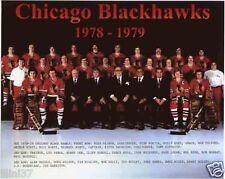 1978-79 CHICAGO BLACKHAWKS NHL HOCKEY 8X10 TEAM PHOTO