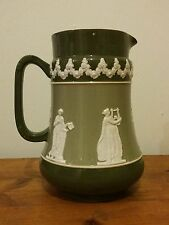 Carlton Ware Jug Green & White Pitcher Water Jug