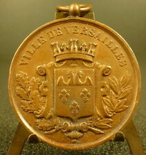 Médaille Ville de Versailles blason hermines concours int de musique 1881 Medal