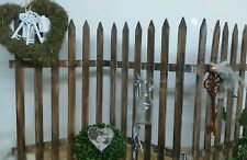 Decorative Wooden Fence decode fence Vintage Shabby Chic New brown 120x60cm