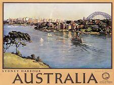 ART PRINT POSTER voyage tourisme Sydney Australie Harbour Bridge nofl1234