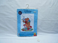designer Stitches Winnie the Pooh flowers bead & counted cross stitch kit BNIP