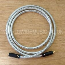 2 Van Damme Silver Series Lo-Cap 55pF Interconnect 0.5 metre cables - RCA Plugs