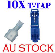 T-TAP Quick Wire Connectors BLUE 18-14 AWG Gauge Car Audio Terminals 10 PCS