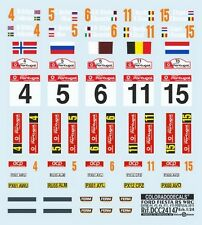 "DECALS 1/24 PLAQUES FORD FIESTA RS WRC ""QATAR"" PORTUGAL 2013 - COLORADO  24147"