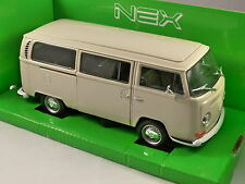 1972 VOLKSWAGEN T2 COMBI BUS in Beige 1/24 scale model by WELLY