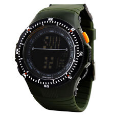 Skmei S-shock Stainless Steel Quartz Waterproof Wristwatch LED Digital Watch