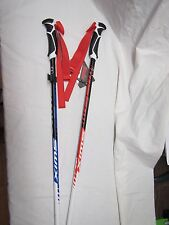 "NEW 2017 SWIX WC PRO PERFORMANCE RACING ALUMINUM SKI POLES 125 CM 50"" RED/BLUE"