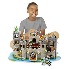 Melissa & Doug 3-D Puzzle Medieval Castle and Play Set In One #9046 NEW