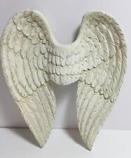 NEW~WHITE ANGEL WINGS Wall Hanging Decor FRENCH Country Christian
