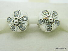 NEW!AUTHENTIC PANDORA  DAZZLING DAISIES CLIPS (2) #791493CZ  HINGED BOX INCLUDED