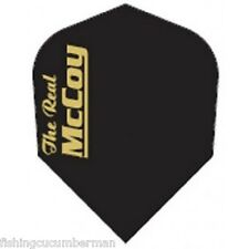 """McCOY """"THE REAL"""" EXTRA STRONG DART FLIGHTS BLACK/GOLD"""