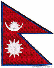 NEPAL FLAG embroidered iron-on PATCH NEPALI NEPALESE