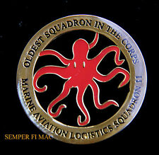MALS11 DEVIL FISH OLDEST SQUADRON IN THE CORPS OCTOPUS CHALLENGE COIN US MARINES