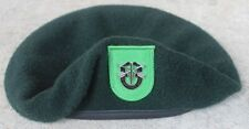 Authentic New US Army 10th Special Forces Group Green Beret, Size 7 1/2 Spec Ops