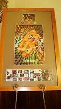 G3 Autographed Tour Poster & Guitar Picks Joe Satriani Steve Vai Eric Johnson 96