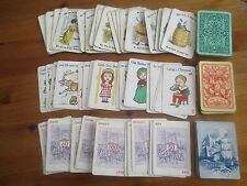THREE LOTS OF VERY OLD  PLAYING CARD GAMES INCOMPLETE - IDEAL FOR SPARES