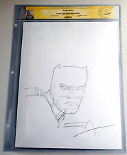 FRANK MILLER BATMAN Original Sketch & Signed CGC Authenticated Very Rare