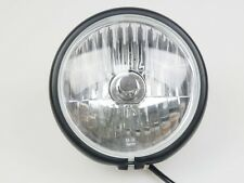 """5 7/10"""" Black Motorcycle Side Mount Headlight H4 Streetfighter Cafe Racer"""