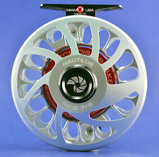 Nautilus NV G-7/8 Fly Reel Silver NEW FREE SHIPPING