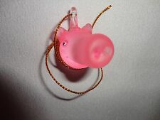 Hanging Pig Smiling Head Figurine of Blown Glass
