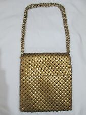 Vintage Whiting & Davis Mesh Bag Copper Metal Evening Bag Amazing