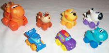 Lot of Assorted TONKA PLAYSKOOL Plastic Toy Vehicles - Lion, Zebra, Racecar +++