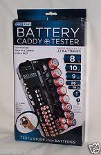 Handy & Versatile Geek Tek Compact Portable Battery Caddy, Holder & Tester New!!