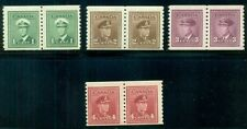 CANADA 278-81 Complete set, Coil Pairs, p. 9 1/2, NH, Scott $134.00