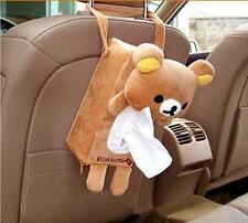 Bear Car Accessories Seat Back Holder Paper Napkins Tissue Box Cover Holder Cute