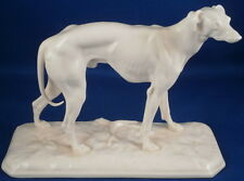 Nymphenburg Porcelain Blanc de Chine Greyhound Figurine Figure Porzellan Figur