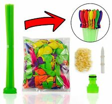 Water Balloons Refill Kit -3 sets Straws+600 Balloons+600 Rubber Bands+3 Tool