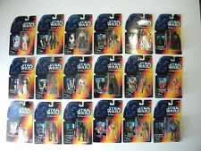 Star Wars POTF LONG SABER Red Card Figures LOT Of 18 1995 MOC