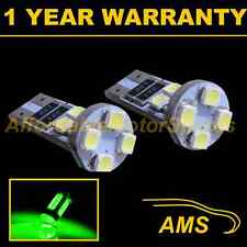 2X W5W T10 501 CANBUS ERROR FREE GREEN 8 LED SIDELIGHT SIDE LIGHT BULBS SL101603