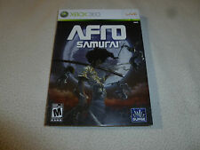 BRAND NEW FACTORY SEALED XBOX 360 LIVE VIDEO GAME AFRO SAMURAI SURGE