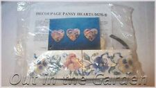 Pansy Hearts Decoupage Paper Craft Kit Designed by Susan Knopp
