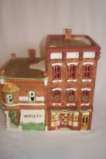 "Department 56 ""VARIETY STORE & BARBERSHOP"" MIB 59722 Christmas in the City"