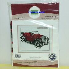 "VINTAGE MORRIS 1938 CAR Counted Cross Stitch Kit - Size 11.5"" x 9.5"" 33-F DIY"