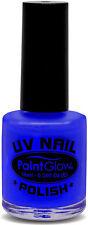UV Neon Nagellack blau NEU - Styling Schminke Karneval Fasching